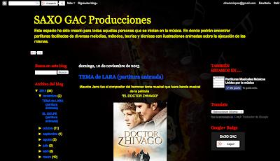 SAXO GAC Producciones. Blog dedicado a la difusión de videopartituras animadas.