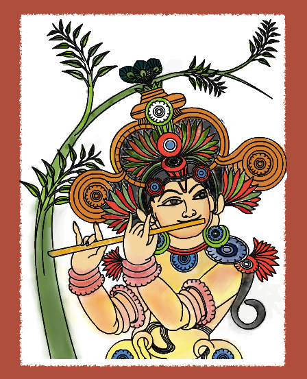Kerala mural painting image 100 for Mural painting designs