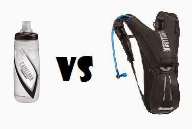 Bidón vs mochila de hidratación camelback