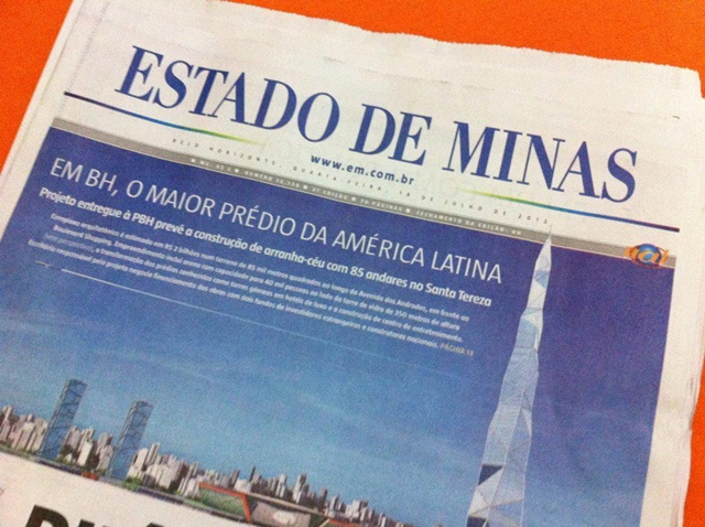 Photo of the story in Brazilian newspapers