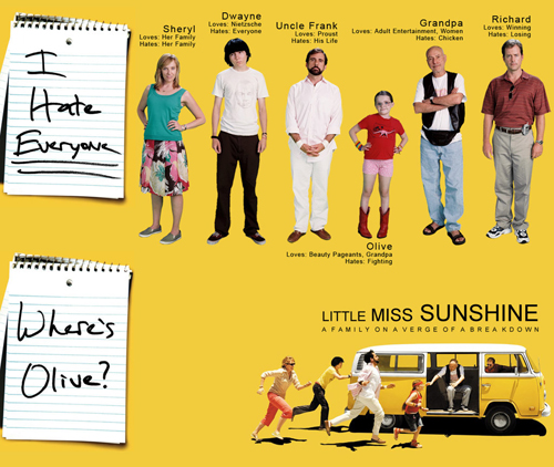 little miss sunshine theme essay essay English - little miss sunshine essay several themes of american values are displayed throughout johnathan dayton and valerie faris' 'little miss sunshine.
