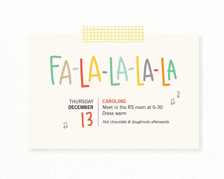 "Kimberly Church || Caroling Invitation ""Fa-La-La-La-La"""