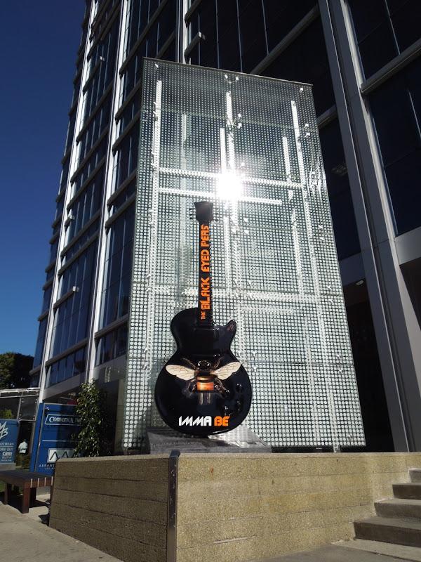 Black Eyed Peas GuitarTown sculpture