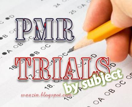 Koleksi Soalan Percubaan PMR 2012 Mengikut Subjek