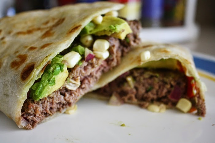 easy burger recipe quesadilla beef burger sweet corn salsa Memorial Day best burger burger taco