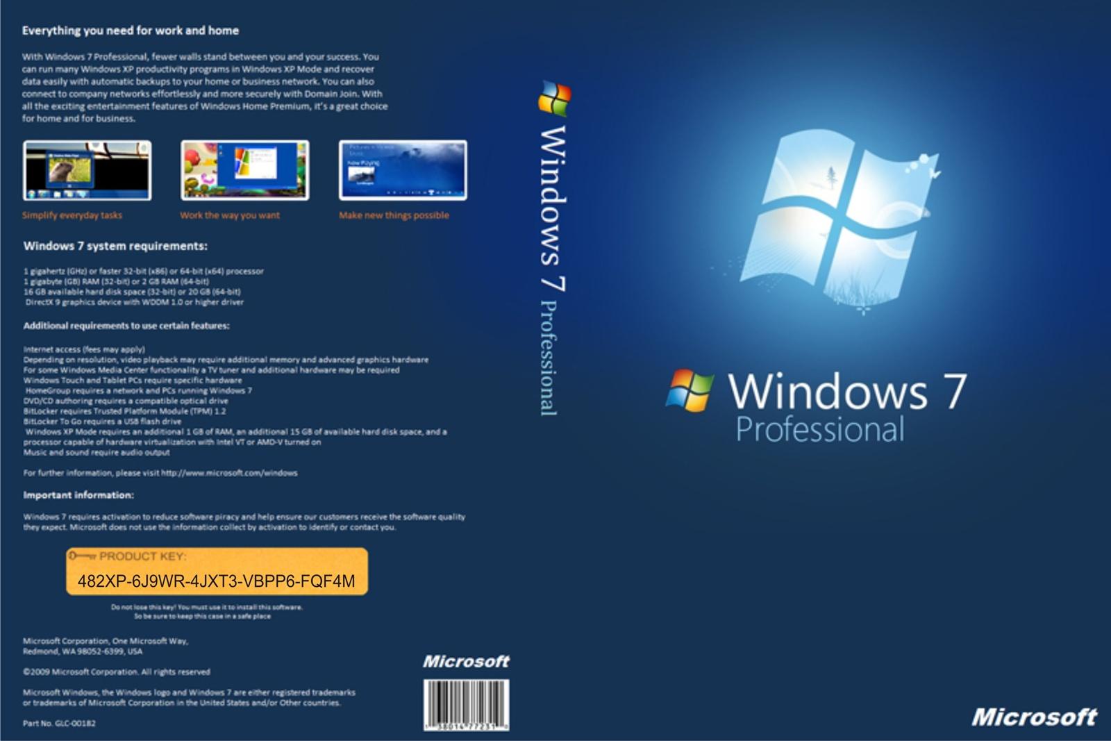 Download Microsoft Windows 7 Pro SP1 x86 PT-BR Windows 7 Professional 32bits