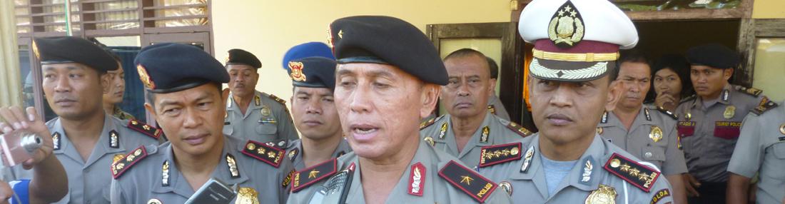 Kapolda NTB di wawancarai oleh wartawan setelah melaksanakan arahan kepda seluruh personil Polres Dompu