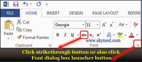 how to delete strikethrough text in excel