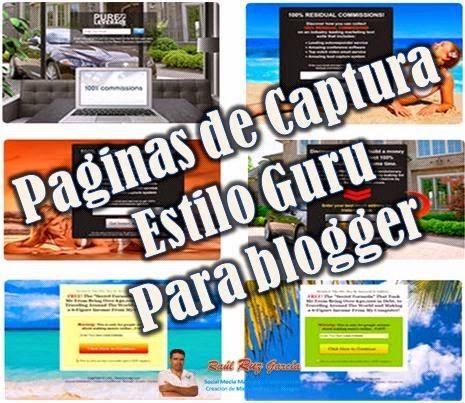 Crea tu pagina estilo Guru en Blogger