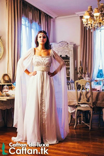 Moroccan caftan White Wedding 2014