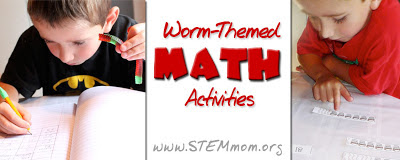 Worm-themed Math activities: Gummy Worm Measuring from STEMmom.org