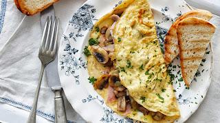 Omelet Keju Jamur