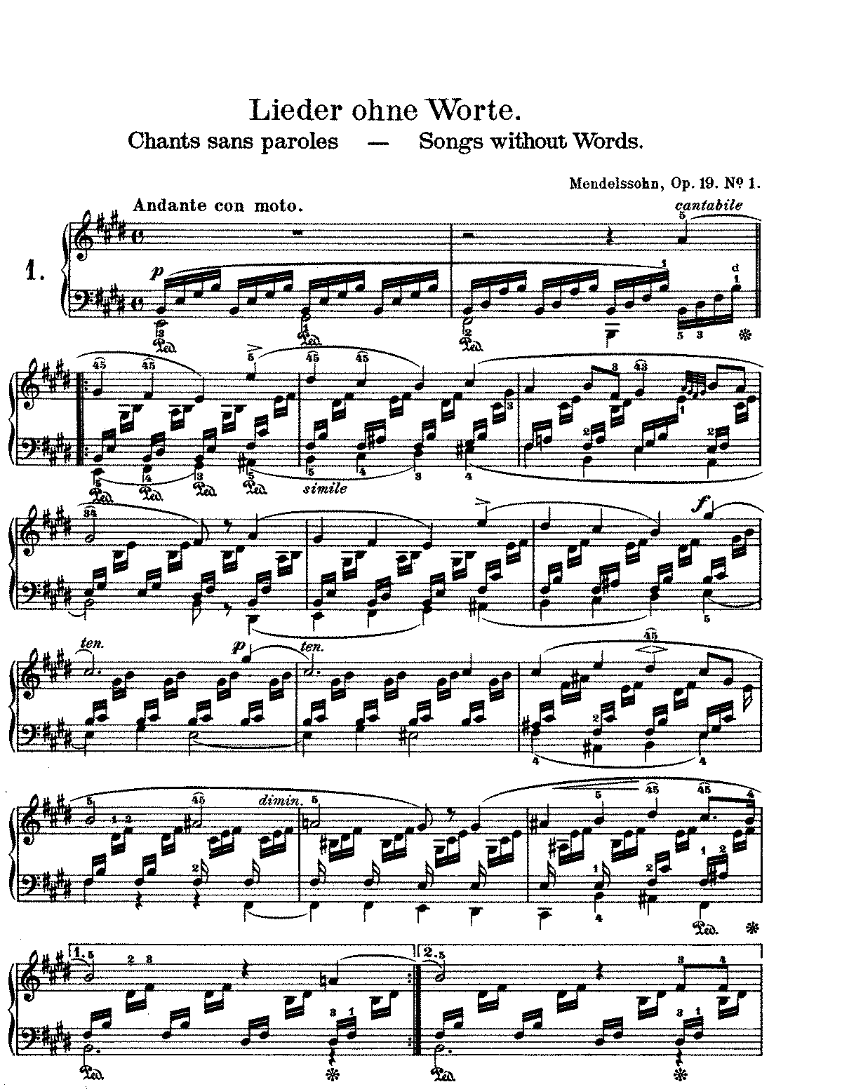 Work by Mendelssohn