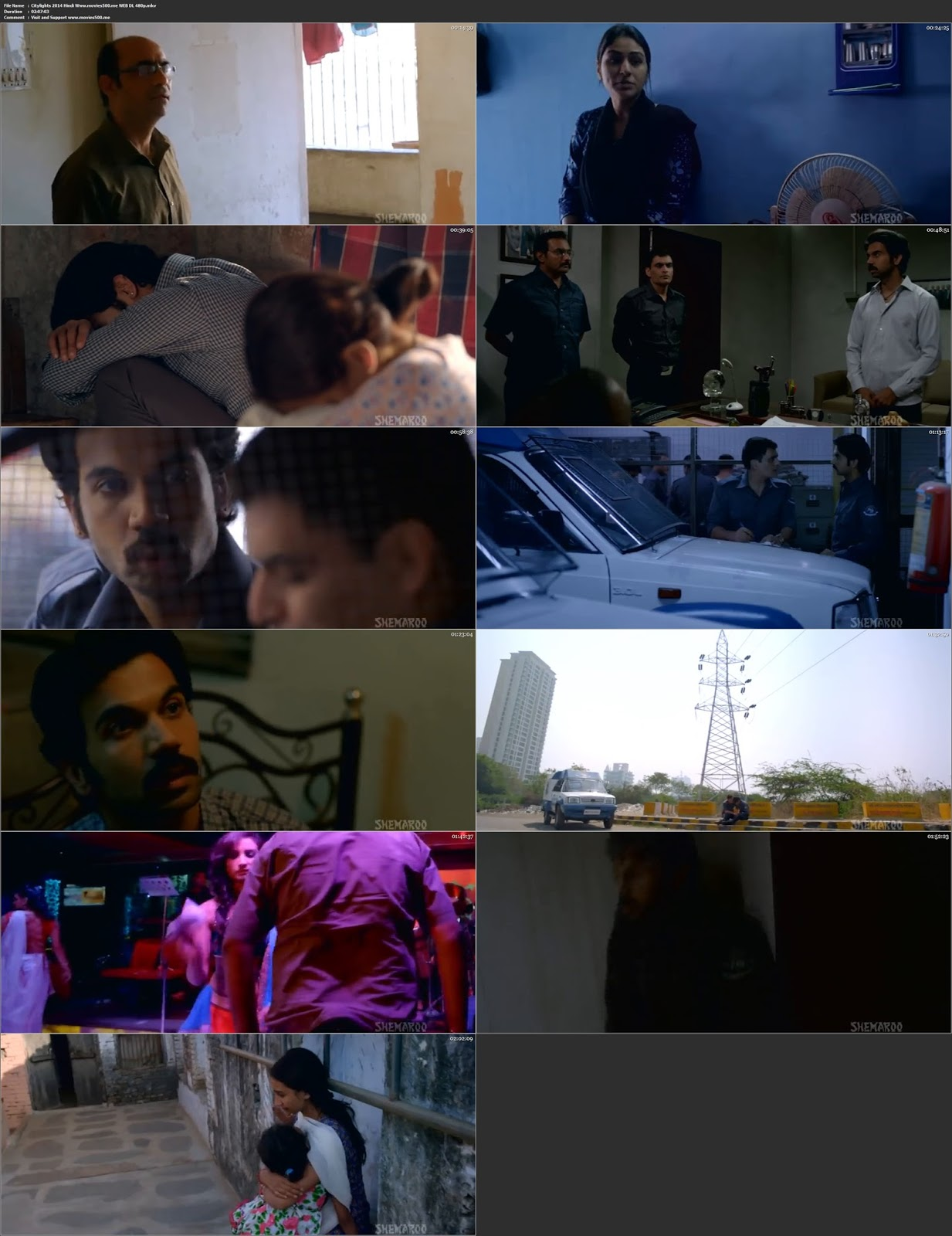 CityLights 2014 Bollywood 300MB Movie WEB DL 480p at freedomcopy.com