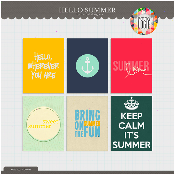 Hello Summer Journal Cards Freebie From One Story Down
