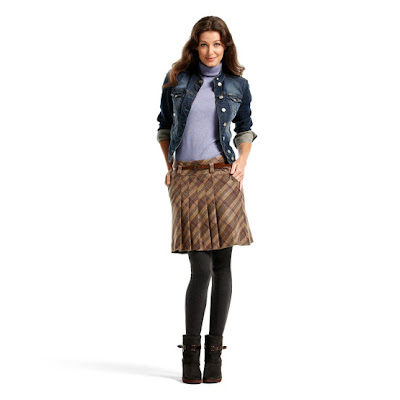 jupe carreaux veste jean bottillons mexx e-shop ouchilistic