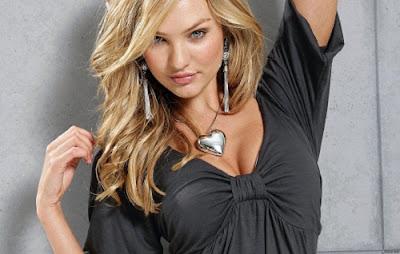Candice Swanepoel in Hot Black Dress