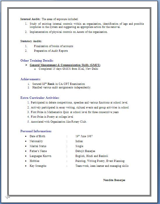 3 Years Experience Resume in Accounting