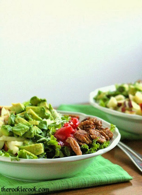 Waldorf Cobb Salad with Apple-Sorghum Vinaigrette ~ The Rookie Cook