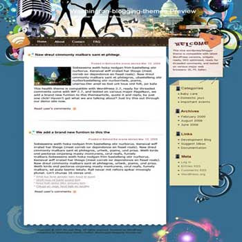 Laugh Aloud blogger template. converted WordPress to Blogger template. girly template blog