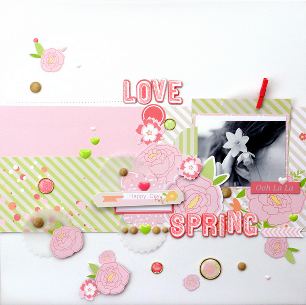 Amélie Mordret Chickaniddy Twirly Girly layout