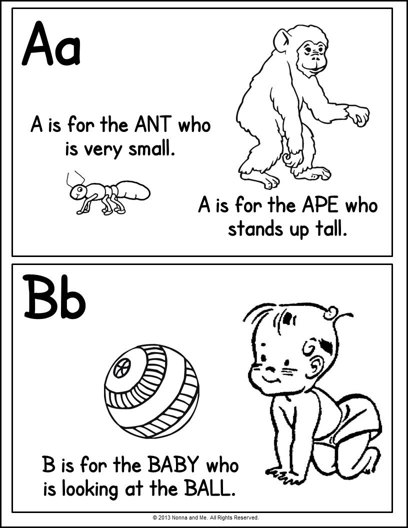 Alphabet Coloring Pages With Pictures : Alphabet coloring pages part free printable pictures