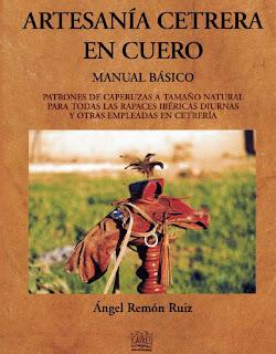 libro de artesanía en cuero hecho a mano sobre cetrería
