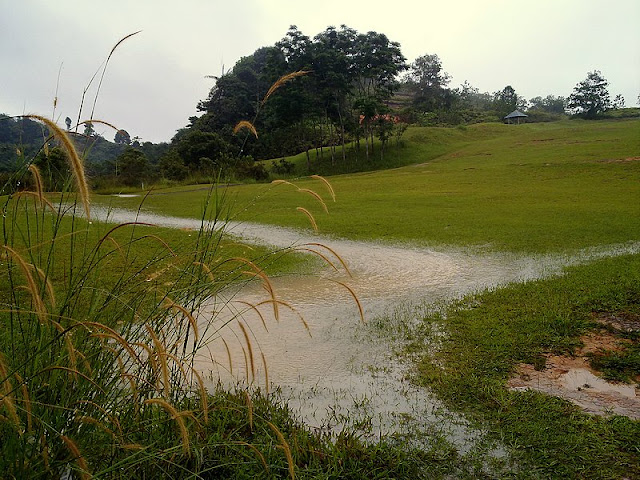 flash flood at Golf Course