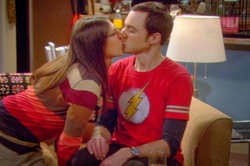 Sheldon y Amy en uno de sus momentos más calientes