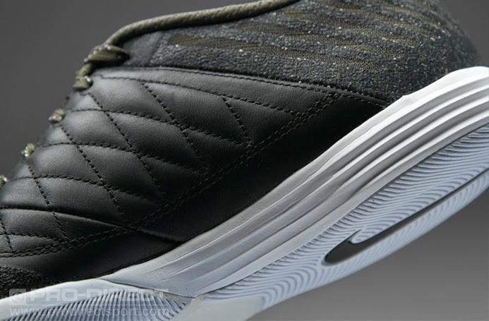 Sepatu Futsal Lunargato II Black White Cargo Khaki