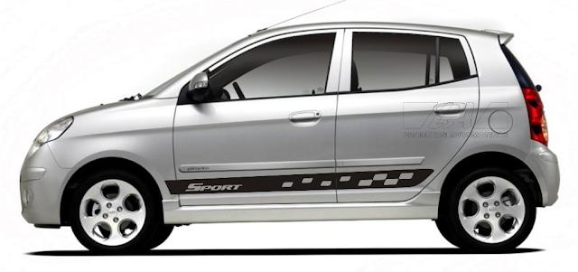 Kit adesivo lançamento 2015 2016 para Kia Picanto modelo Sport quadriculado.