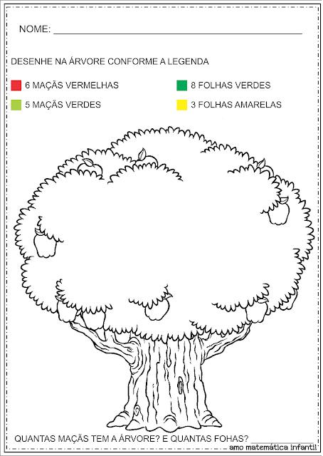 Atividade Numeral 11 Dia da árvore