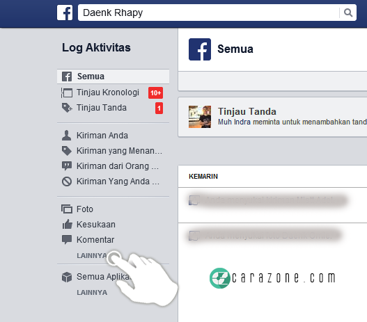 Cara Menghapus Sejarah Pencarian di Facebook