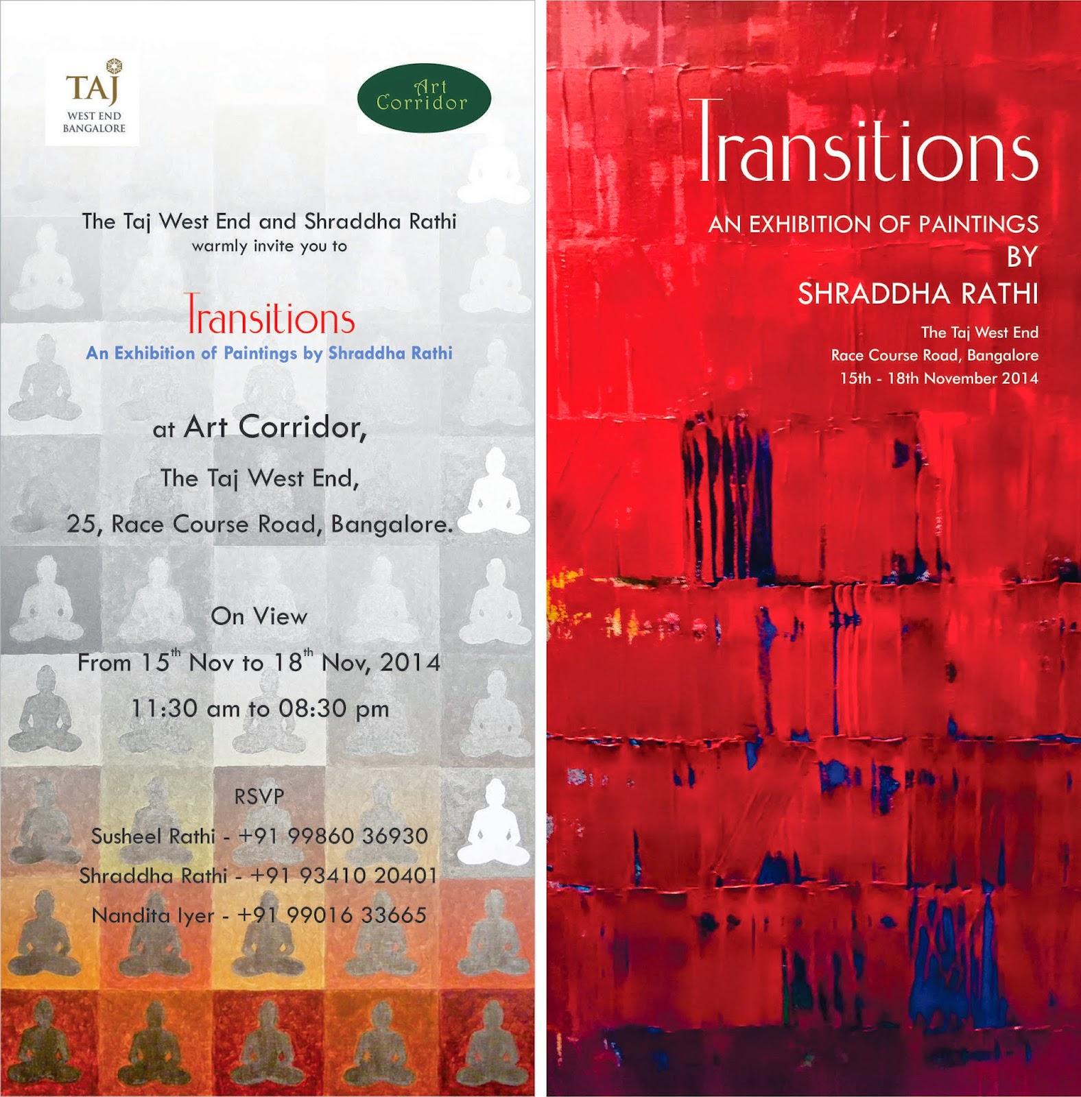Exhibition 'Transitions' by Shraddha Rathi, Bangalore, Art Scene India