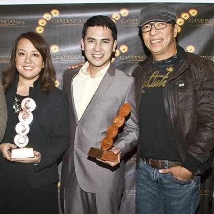 Kapamilyas at Gandingan 2014: Katherine Solis, Cris Zuniga and Ted Failon