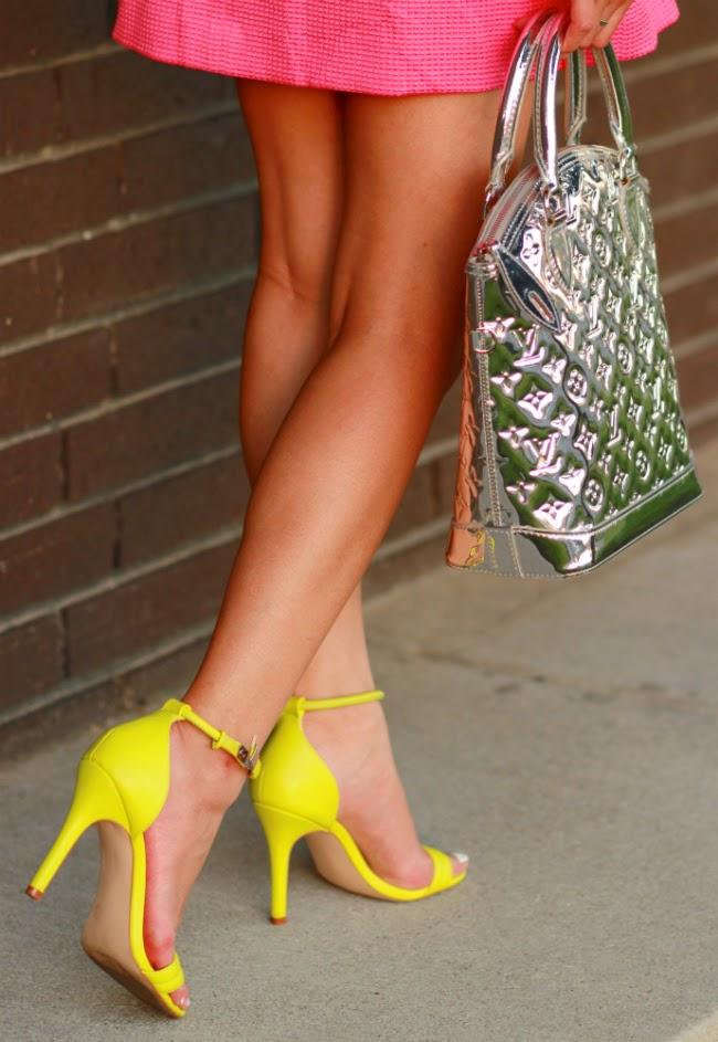 neon green heels sandals shoes summer