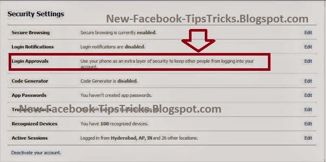 How to Activate enable 2 step verification in facebook image photo