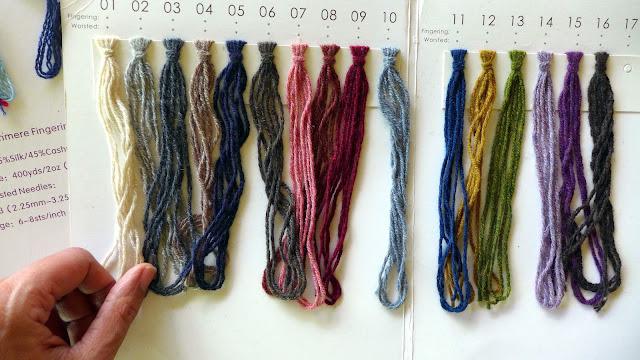 Colors available for Tibetan yak fiber