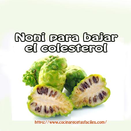 noni,colesterol