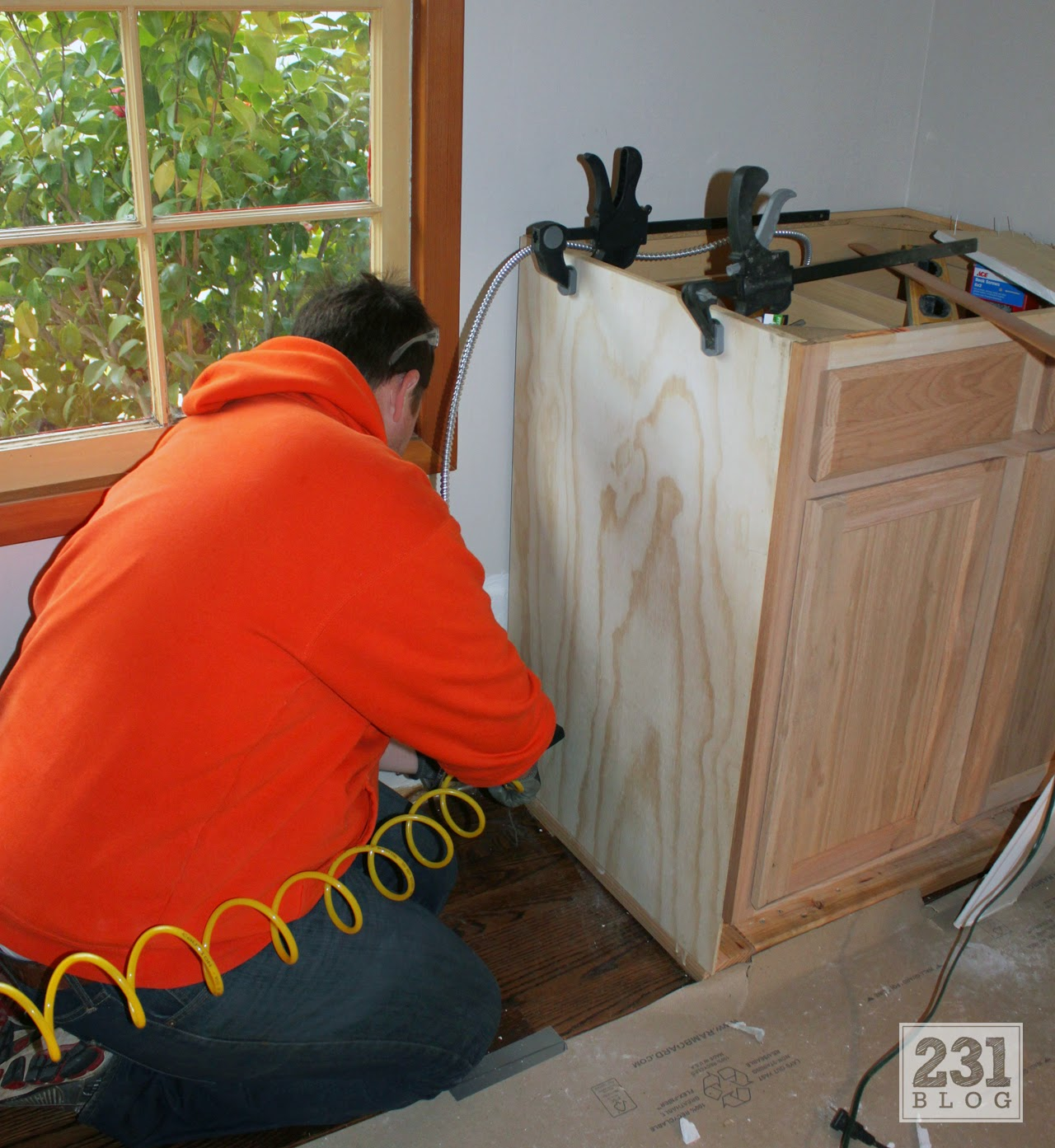 creating built ins using pre fab cabinets