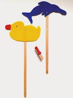 Marionetas de patito de goma y de delfín ©Selene Garrido Guil