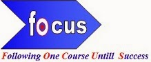 FOCUS - follow one course until success
