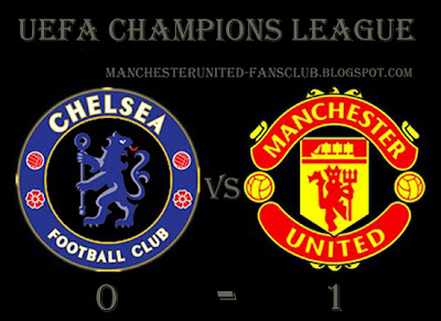 Champions League Chelsea vs Manchester United 0-1, man utd chamions league quarter finals
