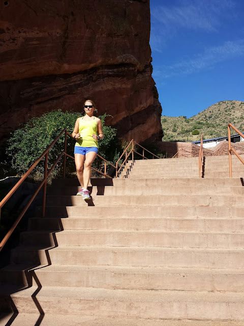 Red Rocks Running - Stairs