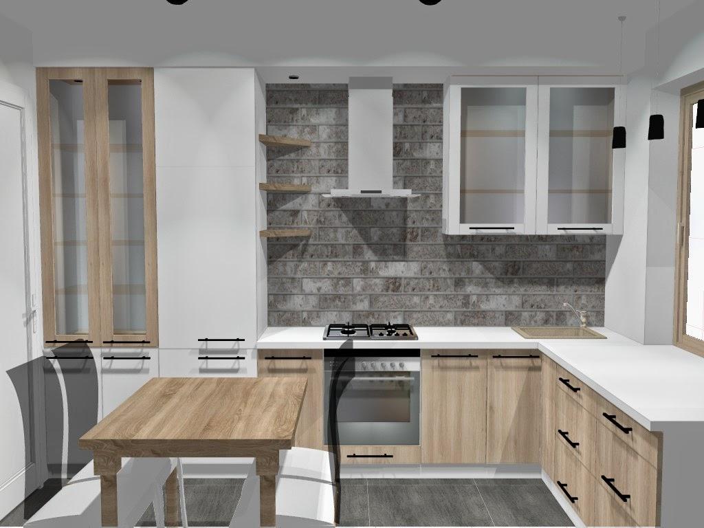 Kuchnia w bloku  mała kuchnia z dobrym planem  Blog o   -> Mala Kuchnia Z Oknem Projekt