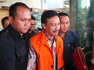 Andi Mallarangeng ditahan KPK (foto Kompas)