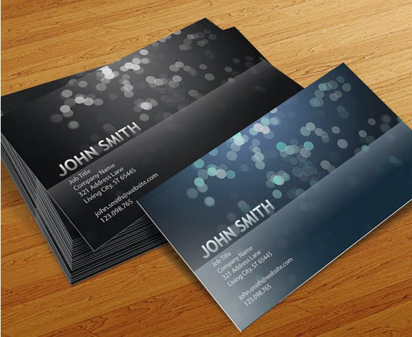 Blurry Circles Business Card Templates
