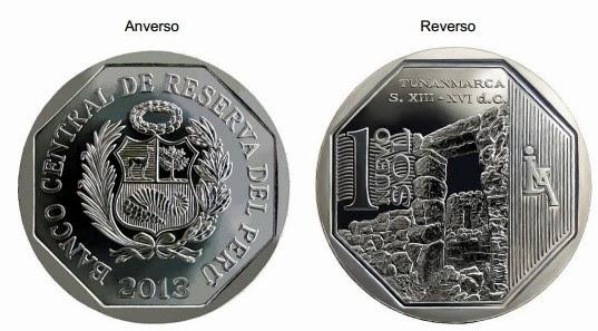 moneda de 1 sol complejo de tunanmarca