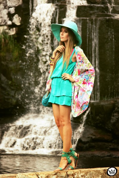 Wearing a Summer Kimono Cardigan with Aquamarine Color