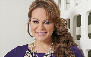 Jenni Rivera purple shirt and sexy smile